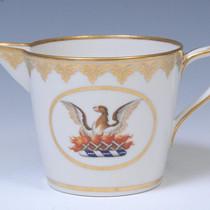 Cream jug with family crest