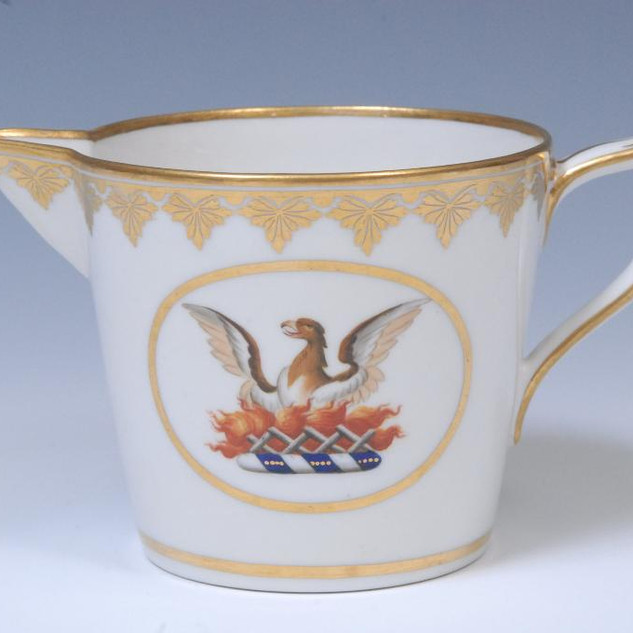 Cream jug with family crest