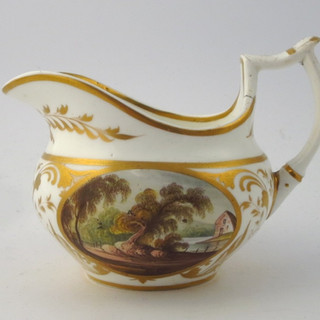 Small jug with landscapes.