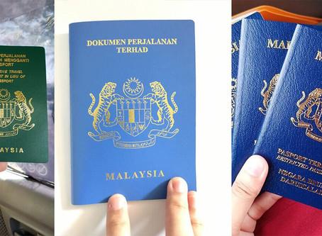 Mengenali warna Passport Malaysia.