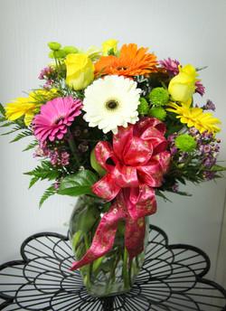 Gerberas and Roses