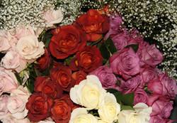 Antique Pink~Rust~Purple~Ivory Roses