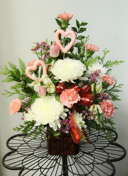 One Sided Valentines Arrangement