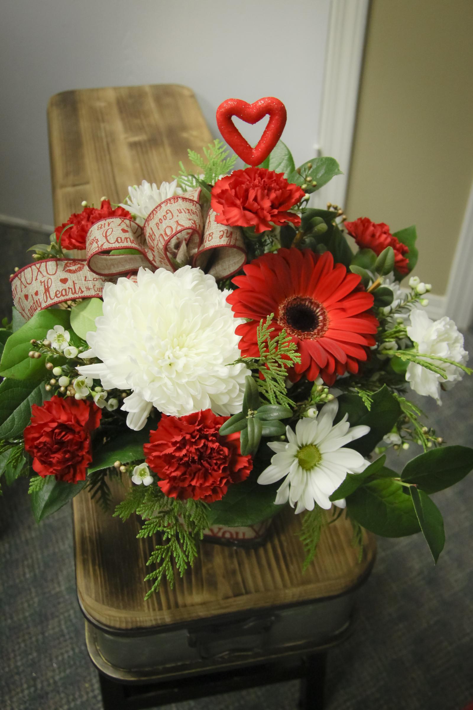 Valentines Centepiece Arrangement