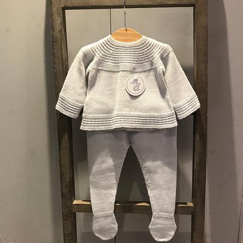 Nico Dingo: Grey Knitted 2 Piece Set