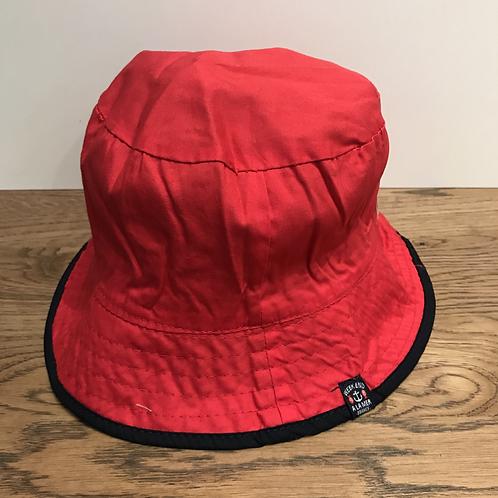 Weekend A La Mer: Reversible Bucket Hat (Red)