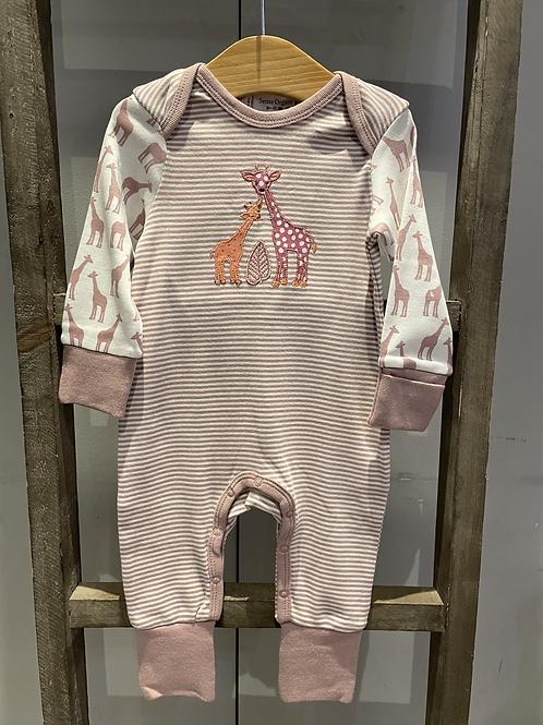 Sense Organics: Giraffe Baby Grow - Mauve