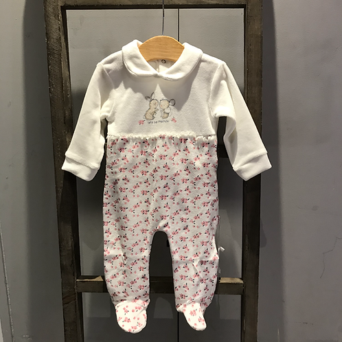 Baby Bol: Baby Grow - Cream Velour