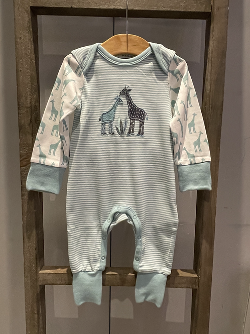 Sense Organics: Giraffe Baby Grow - Teal