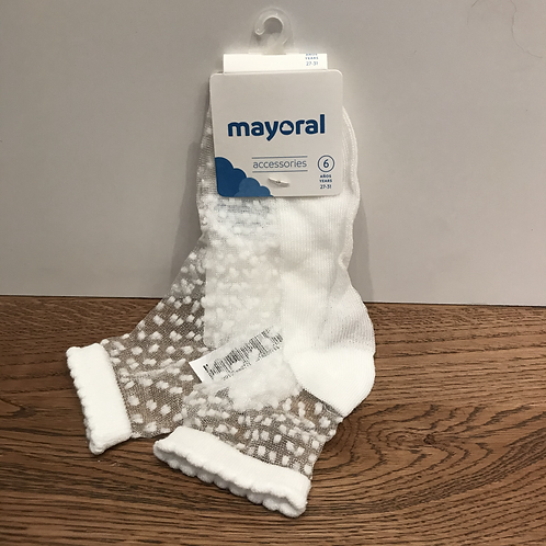 Mayoral: 10786 - White mesh dots
