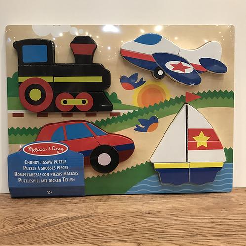 Melissa & Doug: Large Chunky Transport Puzzle