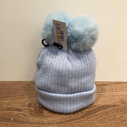 Pesci: 61951 Double Bobble Hat - Pale Blue