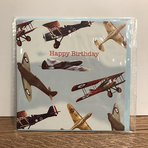 Card: Birthday (Airplanes)