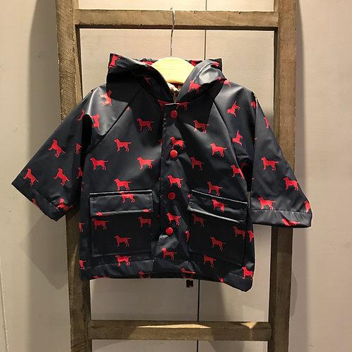 Hatley: Red Labs - Navy Raincoat