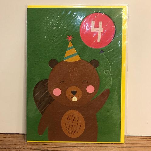 Card: Birthday (Age 4)