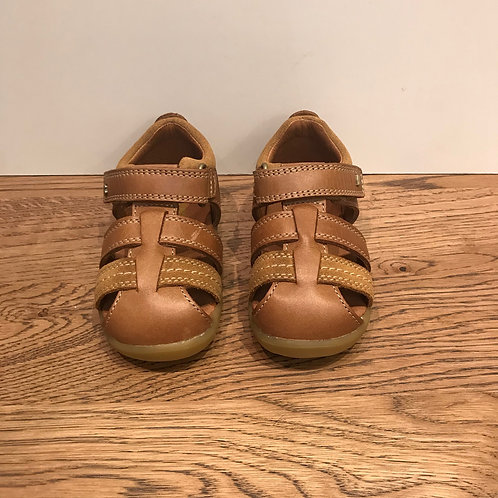 Bobux: Roam - Step up Caramel Closed Toe Sandals