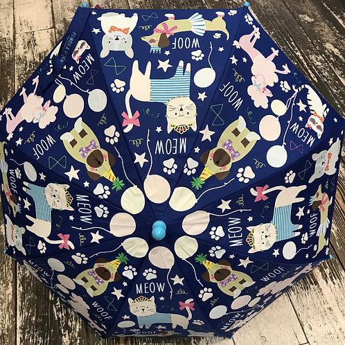 Floss & Rock: Cats & Dogs - Blue Colour Changing Umbrella