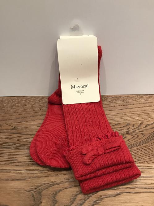 Mayoral: 10280 Knee High - Red