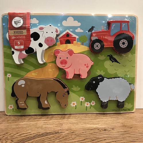 BigJigs: Chunky 5 Piece Farm Puzzle