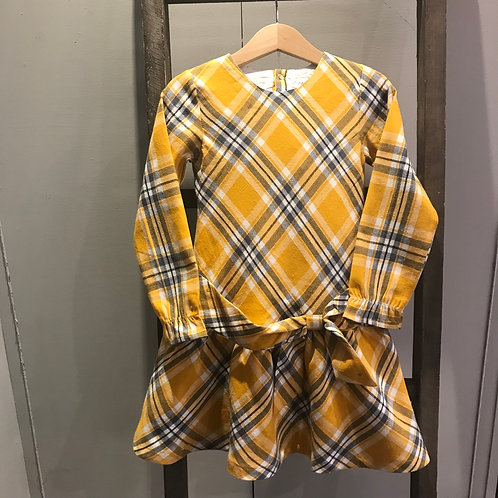 Babybol: Yellow tartan dress