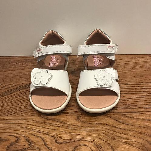 Garvalin: White Open Toe Sandals