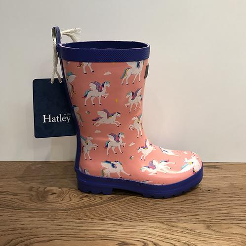 Hatley: Magical Pegasus Wellies - Pink