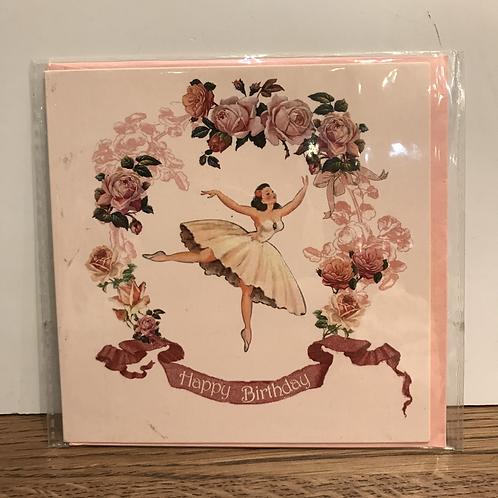 Card: Birthday (Flower Girl)