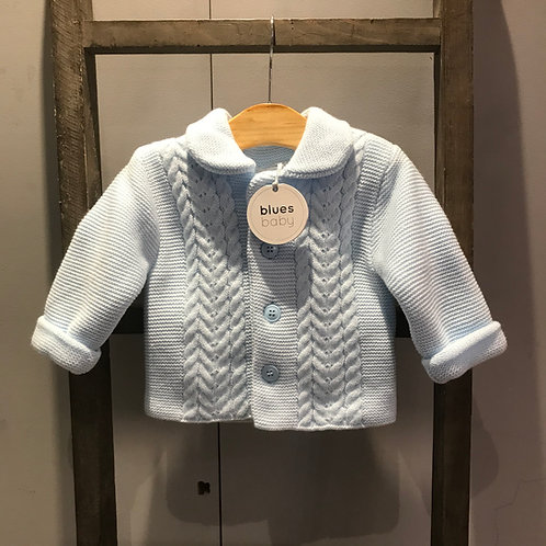 Blues Baby: Blue Knitted Jacket & Hat
