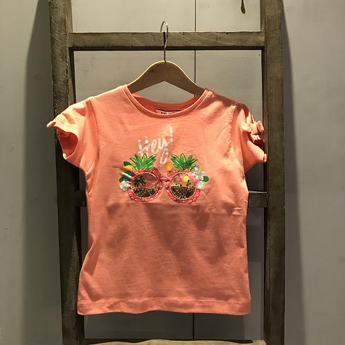 Mayoral: Tropical T-Shirt - Coral