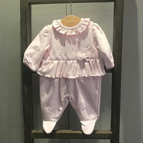 Blues Baby: Pink Frill  babygrow