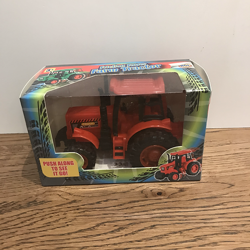 Pocket Money: Friction Power Farm Tractor Red