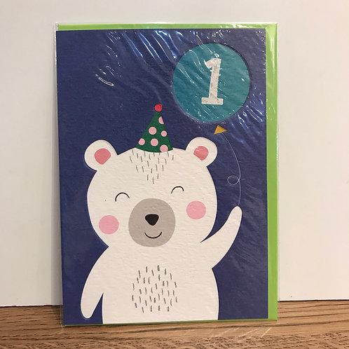 Card: Birthday (Age 1)