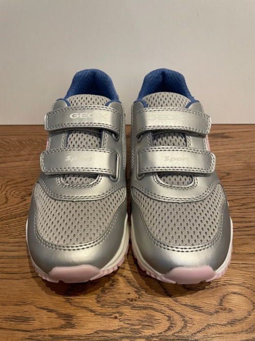 Geox: J Pevel -Silver Trainers