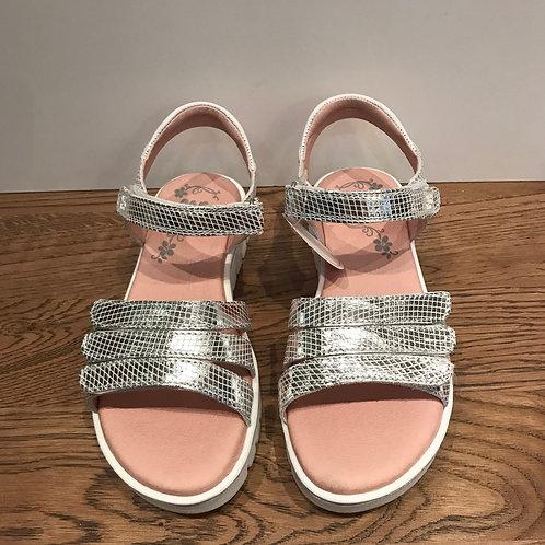 Garvalin: Silver Open Toe Sandals