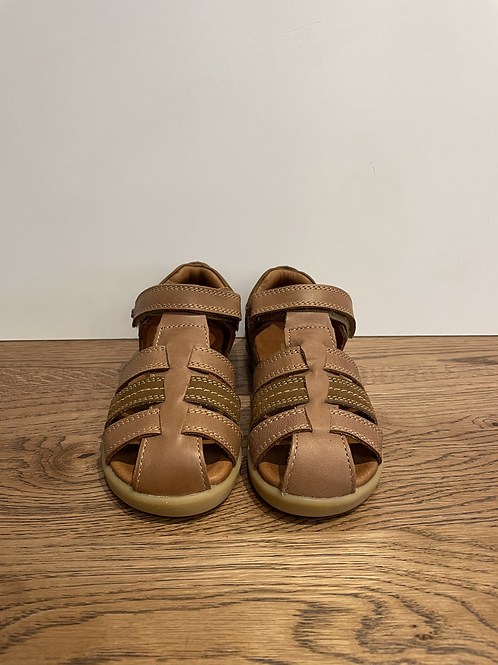 Bobux: I-Walk Closed Toe Sandal -Caramel