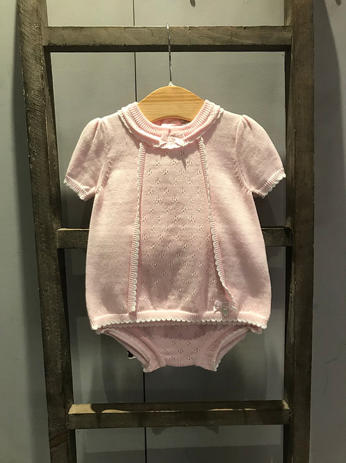 Blues Baby: Pink Knitted 2 Piece