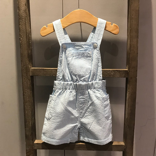 Hatley: Blue/White strip Dungarees