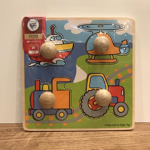 BigJigs: Chunky 4 Piece Vehicle Puzzle