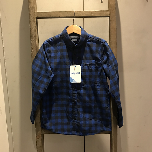 Mayoral: Cheque Shirt (Royal Blue)