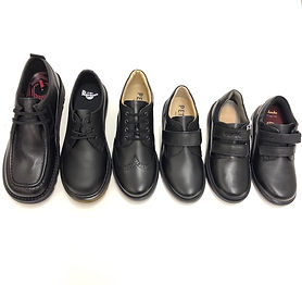 Boys school shoes lace & velcro Sid & Ev