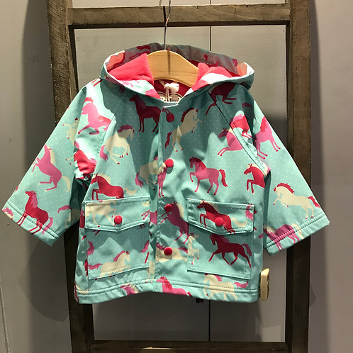 Hatley: Ponies & Polka Dots - Mint Raincoat