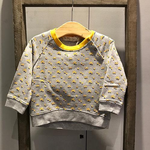 Sense Organics: Flowers - Yellow Sweatshirt