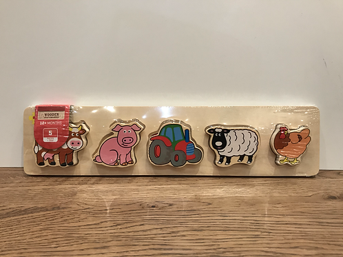 BigJigs: Chunky 5 Piece Puzzle (Farm)