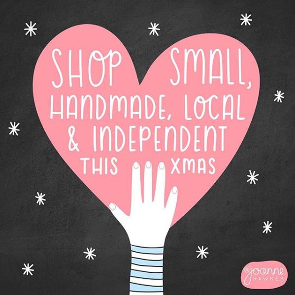 shop small illusrtation by joanne hawker