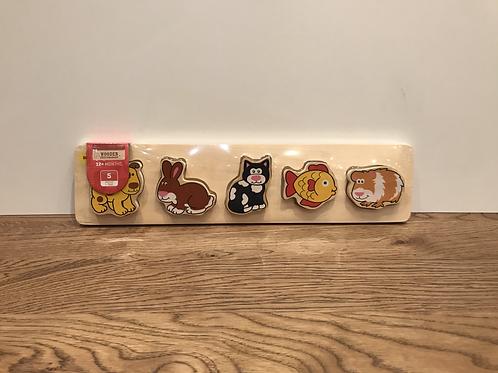 BigJigs: Chunky 5 Piece Puzzle (Pets)