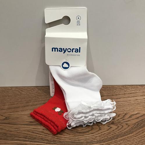 Mayoral: Red/White - Socks