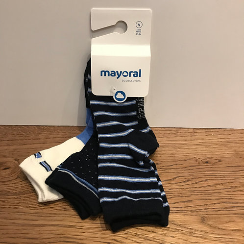 Mayoral: Strip - Navy Blue Socks