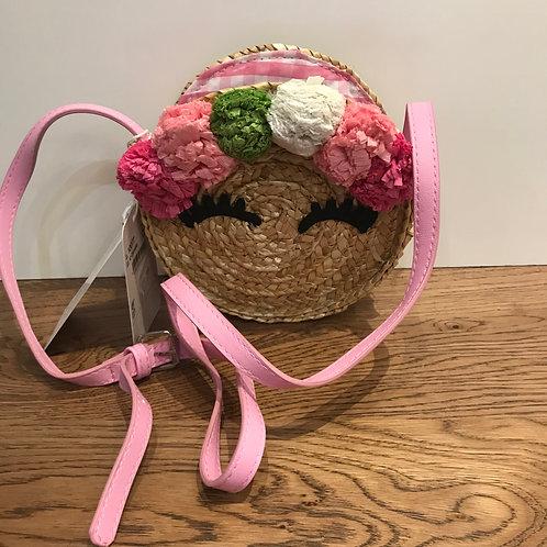 Mayoral: Pom Poms - Pink Gingham Bag