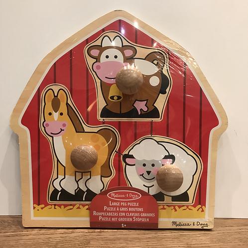 Melissa & Doug: Large Peg Farm Puzzle