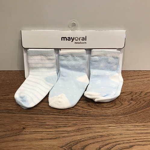 Mayoral: 9245 3 Pack - Pale blue